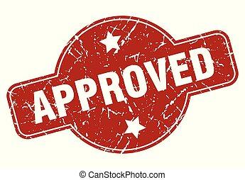 approved vintage stamp. approved sign
