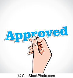 Approved word in hand