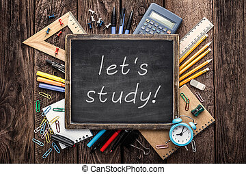 approvisionnements école, education, fond