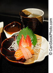 apprtizer, sashimi