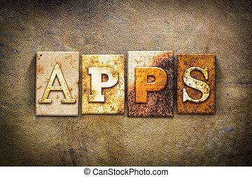 Apps Concept Letterpress Leather Theme