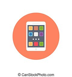 apps  flat color icon