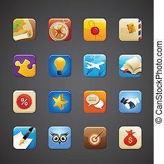 apps, gyűjtés, ikonok