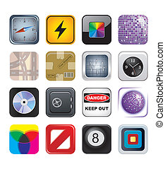 apps icon set two