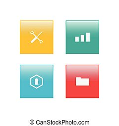 Apps icon vector on square shape design