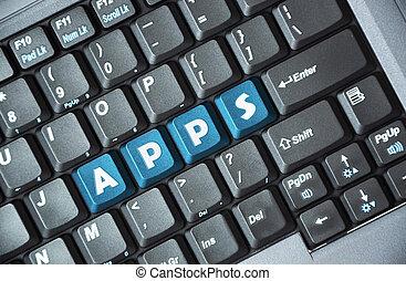 Apps on keyboard