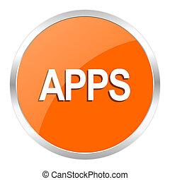 apps orange glossy icon