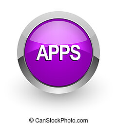 apps pink glossy web icon
