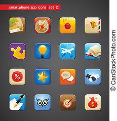 apps, samling, iconerne