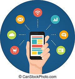apps, smartphone, infographics