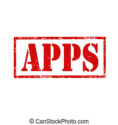 APPS-stamp - Grunge rubber stamp with text APPS(applications...