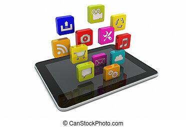 apps, tableta