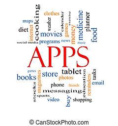 Apps Word Cloud Concept