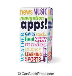 apps word on product box