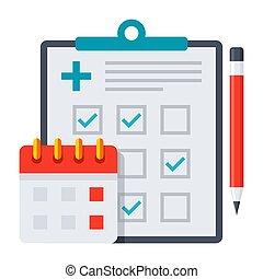 Appuntamento richiesta icona concetto appuntamento for Capannone pianificatore di layout