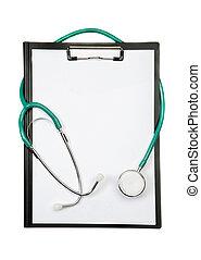 appunti, con, stetoscope