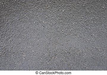 après, asphalte, pluie, texture