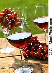 après-midi tardif, vin