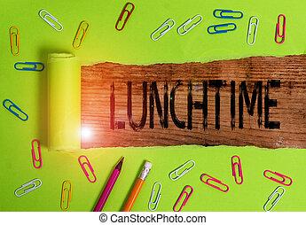 après, petit déjeuner, avant, photo, écriture, projection, repas, dîner., conceptuel, texte, milieu, lunchtime., main, jour ouvrable