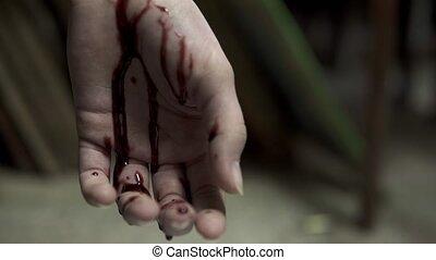 après, suicide, main