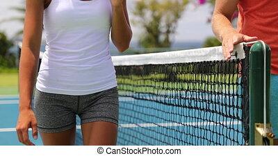 après, unrecognizable, filet, joueurs tennis, allumette, ...