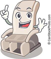 apró alakzat, tapogat, szék, karikatúra, masszázs