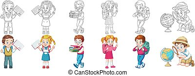 apródok, színezés, állhatatos, gyerekek