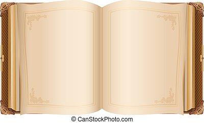 apródok, tiszta, nyílik, retro, könyv