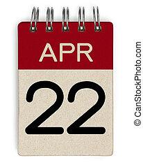 apr, calendrier, 22