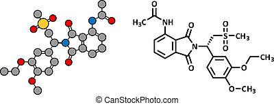 Apremilast investigational psoriasis drug, chemical...