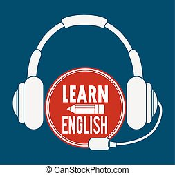 aprender, diseño, inglés