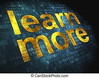 aprender, plano de fondo, digital, educación, concept:, más