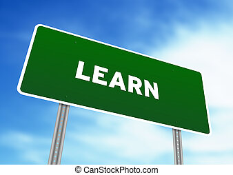 aprender, sinal rua