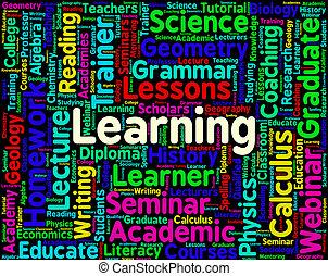 aprendizagem, palavra, representa, treinamento, desenvolva, e, estudo