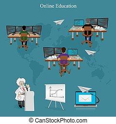aprendizaje de distancia, en línea