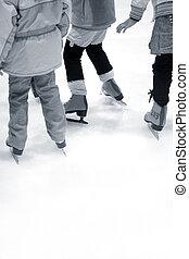 aprendizaje, hielo-patinaje