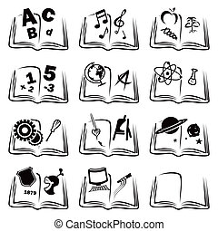 aprendizaje, iconos