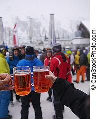 Apres Ski  At Skiing Resort