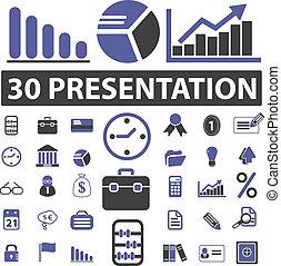 apresentação, negócio, sinais