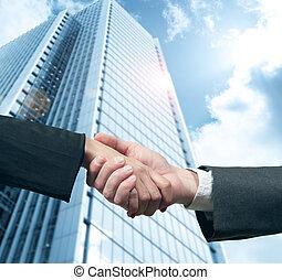 apretón de manos, empresa / negocio