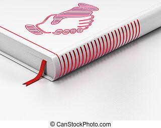 apretón de manos, Plano de fondo, libro, cerrado, política, blanco,  concept: