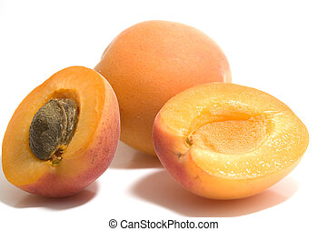 apricot isolated on white background