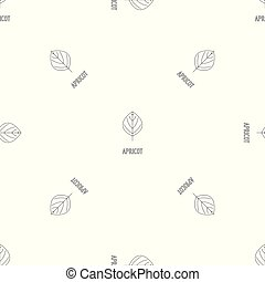 Apricot leaf pattern seamless vector