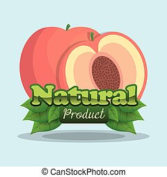 apricot natural product label