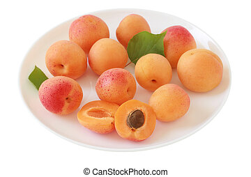 apricot on a plate