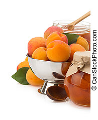 apricot on white background - apricot fruit isolated on...