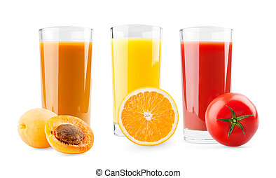 Apricot, orange and tomato juice