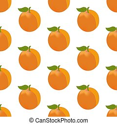 Apricot seamless pattern