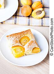 Apricot sponge cake