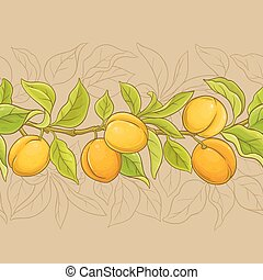 apricot vector pattern